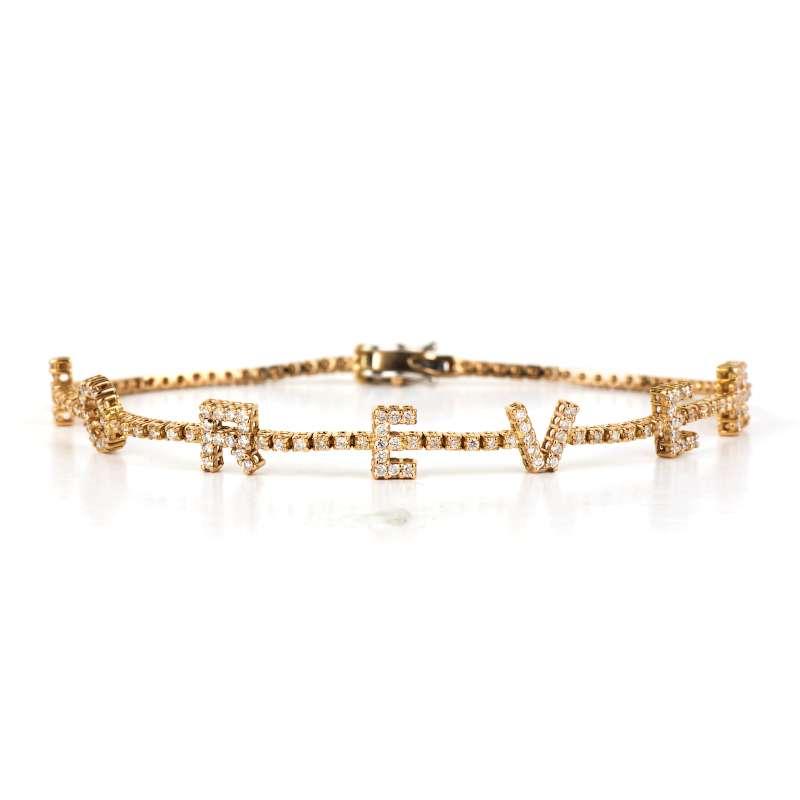 18k Rose Gold Diamond Forever Bracelet 0.89ct Total